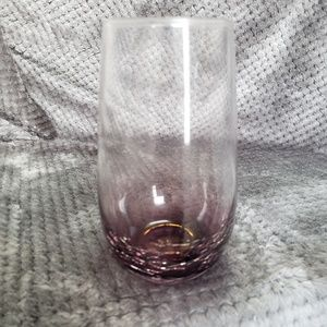 6 PIER 1 IMPORTS Purple Crackle Tall Tumblers
